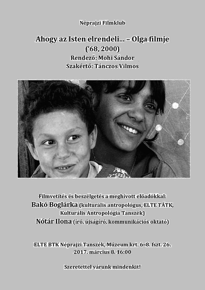 Néprajzi filmklub - Olga filmje