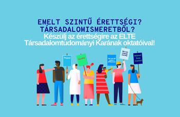 Társadalomismeret online felvételi előkészítőt indít az ELTE TáTK